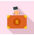 corruption money suitcase icon flat style vector image vector image