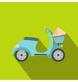 Delivery scooter flat vector image vector image