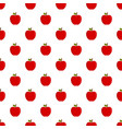 eco fresh red apple pattern seamless vector image