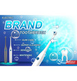 electric toothbrush ads concept tooth model and vector image