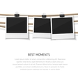 Enjoy every moment Set of photo hanged on vector image vector image