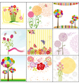 flower cards vector image vector image
