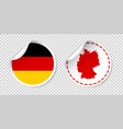 germany sticker with flag and map label round tag vector image vector image