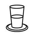 glass of water flat design vector image vector image