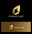 golden leaf bio energy logo vector image