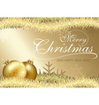 golden merry christmas greeting vector image vector image