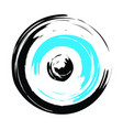 greek evil eye in black and turquoise colors vector image vector image