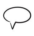 Hand drawn bubble dialog icon vector image vector image