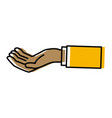 hand holding something vector image vector image