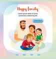 happy family home activity web banner template vector image
