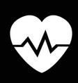 heart cardio pulse icon design vector image