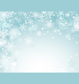 holidays winter background vector image