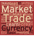 How To Win Big In The Currency Market text vector image vector image