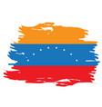 isolated venezuelan flag vector image vector image