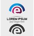 Letter E Logo Design Creative Symbol of letter E