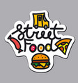 logo for street food vector image vector image