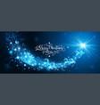 magic star with santa claus vector image vector image