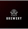 modern malt for ale beer brewery logo design vector image vector image
