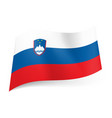 National flag of slovenia white blue and red vector image