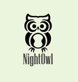 night owl logo vector image vector image
