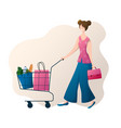 people with bags vector image