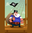 pirate standing on the deck vector image vector image