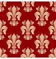Red fleur-de-lis seamless pattern background vector image vector image