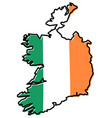 republic of ireland without northern british part vector image