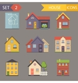 Retro Flat House Icons and Symbols set vector image vector image