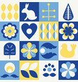 scandinavian style elements vector image