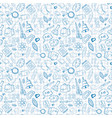 school supplies seamless pattern doodle hand drawn vector image vector image