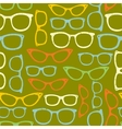 Seamless pattern with eyeglasses vector image