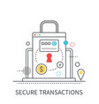 secure transactions modern concept vector image vector image