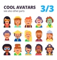 set flat avatars part 3 see also other parts vector image