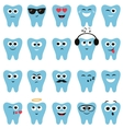 Set of teeth icons with different expressions vector image vector image