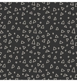 Simple seamless pattern of triangles and circles vector image vector image