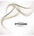 smooth waves on white backgroundabstract vector image
