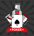spade ace jack king and queen cards playing poker vector image vector image