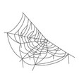 spider web black icon halloween spiderweb symbol vector image vector image