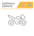 sport motorcycle line icon vector image vector image