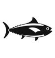 tuna fish icon simple style vector image vector image