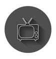 tv icon in line style television symbol for web vector image vector image