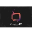 TV logo Creative tv logo design Media design vector image vector image