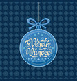 vesele vanoce greeting card in heart form vector image vector image