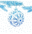 Watercolor greeting card with a ball vector image vector image