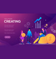 web page for distance education vector image vector image