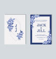 wedding invitation thank you card save date vector image vector image
