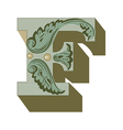 western letter g vector image vector image