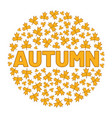 word autumn surrounded tree leaf vector image vector image