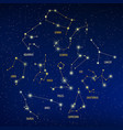 zodiacal signs constellations vector image